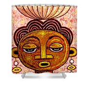 Congalese Face 2 Shower Curtain