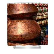 Copper Pots Shower Curtain