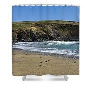 Cornish Seascape Gunwalloe Shower Curtain