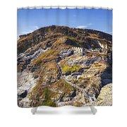 Cornwall - Tintagel Shower Curtain