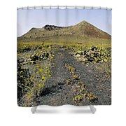 Corona Volcano On Lanzarote Shower Curtain