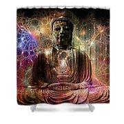 Cosmic Buddha Shower Curtain