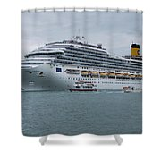 Costa Fortuna Shower Curtain