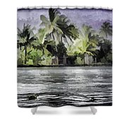 Cottage With Greenery All Around Shower Curtain