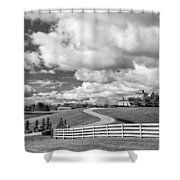 Country Living Bw Shower Curtain