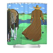 Cowboy Caddy Shower Curtain
