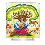 Cossack Mamay Shower Curtain