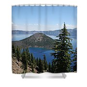 Crater Lake Oregon Shower Curtain