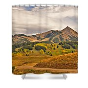 Crested Butte Autumn Shower Curtain