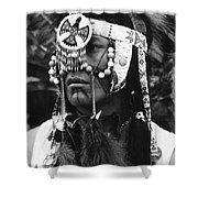 Crow Native American Traditional Dress Rodeo Gallup New Mexico 1969 Shower Curtain