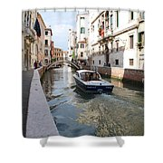 Cruisin' The Canals Shower Curtain