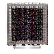 Crystal White And Gray Dots Design Pattern Shade Deco Decoration Shower Curtain