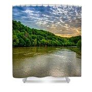 Cumberland River Shower Curtain