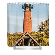 Currituck Beach Lighthouse On The Outer Banks Of North Carolina Shower Curtain