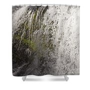 Curtain Of White Water Falling From Rocky Cliff Shower Curtain