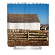 Dairy Buildings At Historic Pierce Shower Curtain