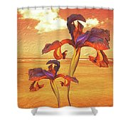 Dancing In The Sunset Shower Curtain