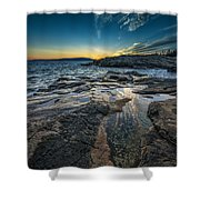 Day's End At Scoodic Point Shower Curtain