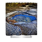 Dead Sea Sink Holes Shower Curtain by Dan Yeger