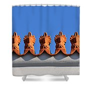 Decorative Roof Tiles In Plaka Shower Curtain
