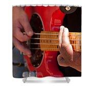 Bass Playing - Denver Shower Curtain