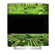 Digital Tunnel Shower Curtain