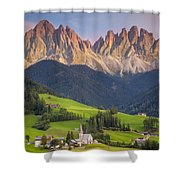 Dolomites From Val Di Funes Shower Curtain