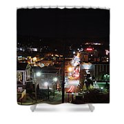 Downtown Morgantown From Above Shower Curtain