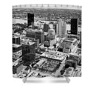 Downtown Skyline Of Toledo Ohio Shower Curtain
