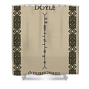 Doyle Written In Ogham Shower Curtain