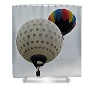 Dueling Balloons Shower Curtain