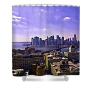 Dumbo View Of Lower Manhattan Shower Curtain