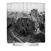 Dunnottar Castle Monochrome Shower Curtain