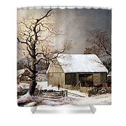 Durrie's Winter In The Country Shower Curtain
