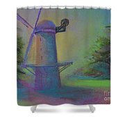 Dutch Windmill 02 Shower Curtain