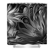 Dynamic Floral Fantasy Shower Curtain