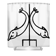 Early Christian Symbol Shower Curtain