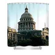 Early Morning At The Texas State Capital Shower Curtain