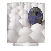 Earth Egg Pollution Shower Curtain