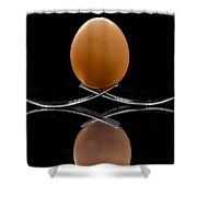 Egg On Top Of Forks Shower Curtain
