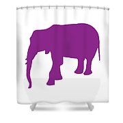 Elephant In Purple And White Shower Curtain