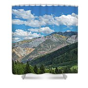 Elevated View Of Trees On Landscape Shower Curtain