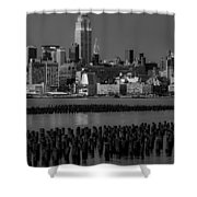 Empire State Building Dressed Up In Pastels Shower Curtain