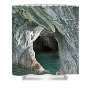 Eroded Marble Shoreline Shower Curtain