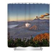 eruption at Gunung Bromo Shower Curtain