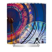 Evergreen State Fair Ferris Wheel Shower Curtain