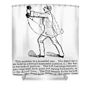 Exercise, 19th Century Shower Curtain