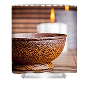 Exotic Bowl And Candles Shower Curtain