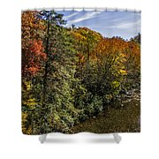 Fall Along The Linville River Shower Curtain