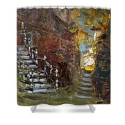 Fall In Albanian Village  Shower Curtain